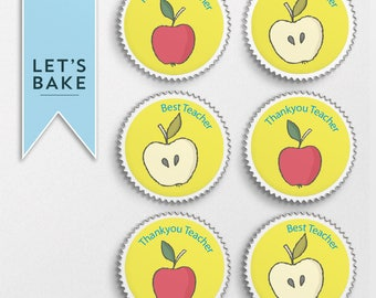 Best teacher,edible cupcake topper,rice paper topper,edible, edible cake,rice paper cake,rice paper cupcake,chocolate, marshmallow lolly,