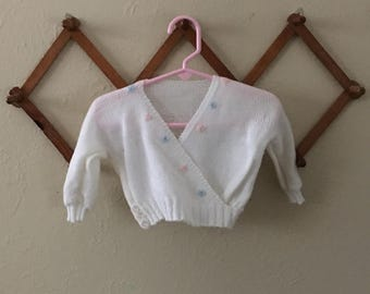 Girls Knit Ballet Wrap Sweater