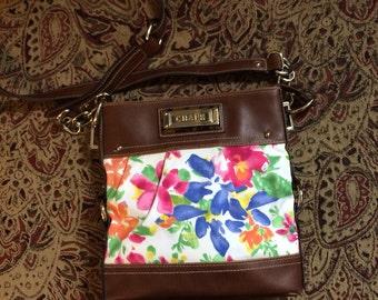 Vintage Flowered Chaps Crossbody  Bag Purse Handbag Crossbody Bag