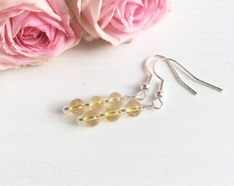 Citrine Earrings, Citrine Jewelry, Yellow Earrings, Clip On Earrings, Birthstone Earrings, November Birthstone, Birthday Gifts For Her