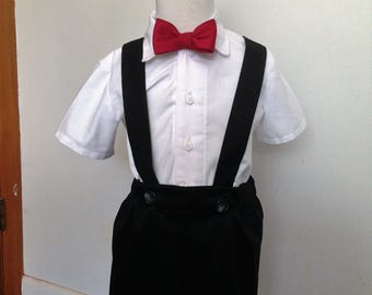 Black Ring Bearer outfit in size 2T,3T,4T. Use for wedding,or special occasion