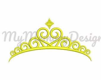 Crown embroidery design , Princess embroidery design , Crown embroidery design, Girl embroidery design , Machine embroidery design , tiara
