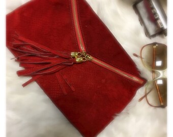 Small lether clutch bag