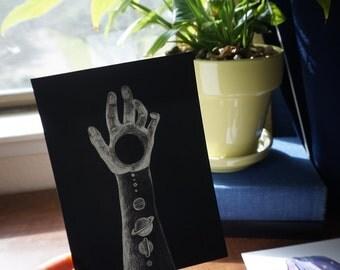 Planets Postcard (Print)
