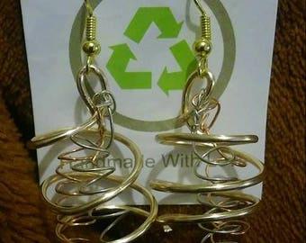 Spiral Dangle Earrings