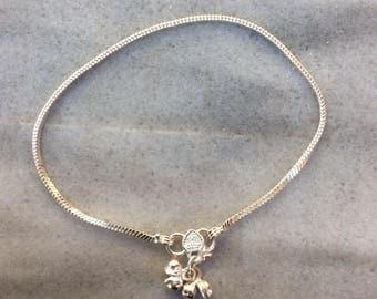 Snake chain silver plated, handmade indian anklet, gypsy anklet, ankle bracelet