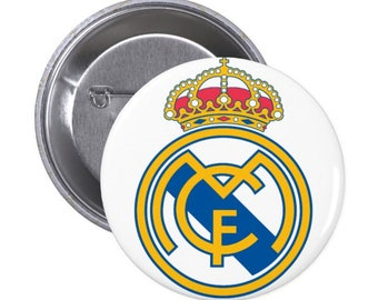 "Real Madrid - 1.5"" and 2.25"" Pinback Button"