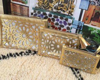 Moroccan makeup pouches