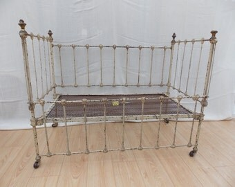Vintage Victorian Iron Cot