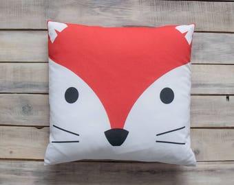 READY TO SHIP! Funny Fox pillow