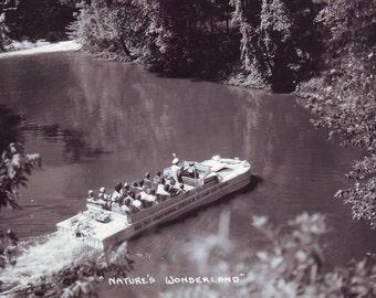 Vintage Duck in Wisconsin Dells Unused Post Card. Printed on Kodak Photo Paper