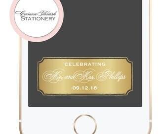 Gold Foil Wedding/Event Snapchat