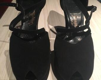 40's platform peep toe Beleganti Joseph Salon Shoes Hand-Made