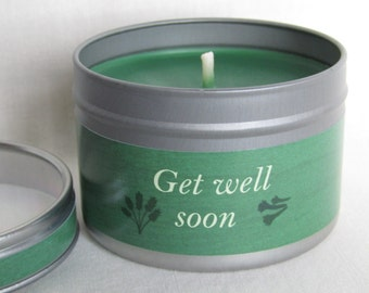 Get Well Soon Aromatherapy Candle of Pure Rapeseed Wax & 10 Pure Essential Oils