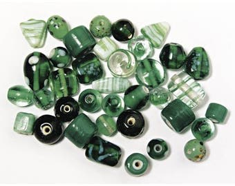 Emerald glass beads, from 6 to 18 mm RAY-3314101429