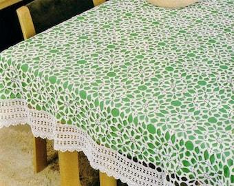 195. Vintage crochet tablecloth UK pattern  in pdf