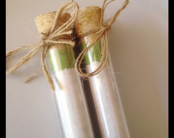 Matcha Latte Test Tubes | Rustic Healthy Test Tube Wedding Favours, Christmas Gifts, Xmas Corporate Gifts