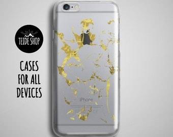 Gold Clear iPhone 7 Case iPhone 7 Plus Case Clear iPhone 6S Case iPhone 6S Plus Case iPhone SE Case iPhone 6 Case Clear Phone Case Glitter
