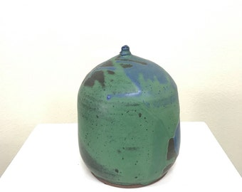 large weed pot studio pottery