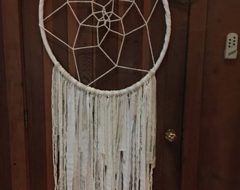 Beautiful Dreamy White and Cream Dream Catcher