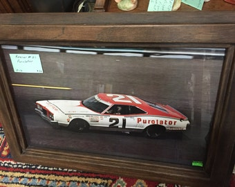 Vintage Photo Framed of Purator's Race Car.