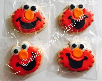 Elmo Inspired Cookies/firstbirthdaycookies/NumberCookies