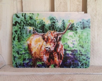 Highland Cow ipad Cover (for ipad generations 2, 3, 4) Scottish Gift