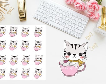 coffee cat Planner Stickers