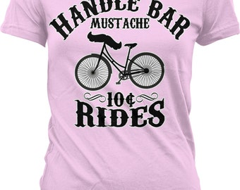 Handle Bar Mustache, 10 Cent Rides Juniors T-shirt, NOFO_00190