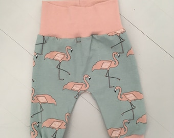 Flamingo baby pants made to order