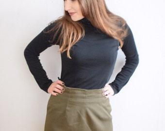 Green skirt kahki green skirt army green skirt