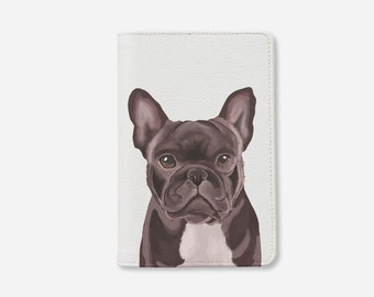 Pug passport holder personalized passport cover animals passport holder leather passport cover passport case by wanderlustcover