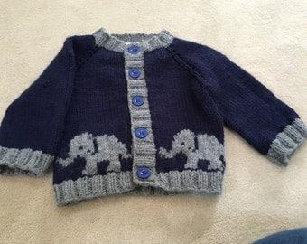 Toddler's Elephant Sweater