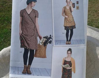 Misses' & Women's Boho Chic Slip Frock Dress and Wrap Dress in 2 Lengths - Simplicity Sewing Pattern 8186 by Dottie Angel - Sizes 4 - 12