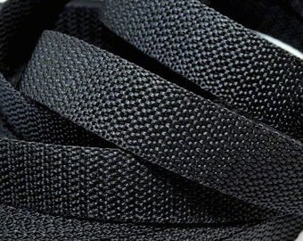 5 meter bag strap webbing black 20 mm
