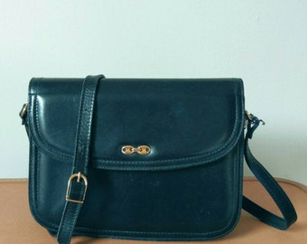 Vintage Vera Pelle Italian black leather bag