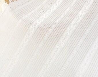 White Striped Cotton Fabric MT035