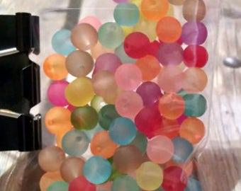 Bright Pastel Glass Beads, 100pcs. #e-051
