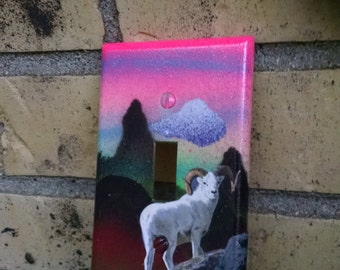 Sunset Billy Goat Light Switch Cover Spiritual Switchplate