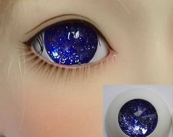 Blue Glitter Pupilless Doll Eyes for BJD Dollfie 12mm 14mm 16mm 18mm 20mm 22mm