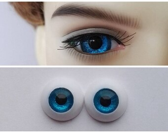 Blue - Doll Eyes for BJD Dollfie 8mm 10mm 12mm 14mm 16mm 18mm 20mm 22mm