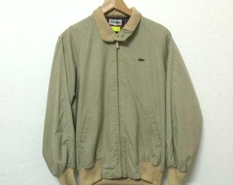 Vintage 90's lacoste harrington jacket M size nice condition