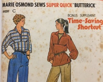 Vintage Marie Osmond Butterick Sewing Pattern no. 6422, Misses Tunic & Pants, Sizes 14 - 16 - 18, Super Quick