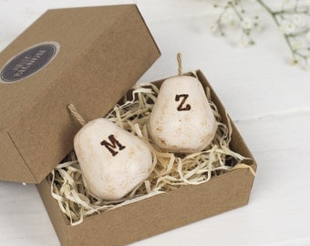 Personalised Perfect Pear Wedding Cake Toppers