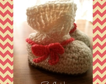 MADE TO ORDER -crochet baby boots