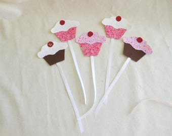 Fabric Cupcake BookMarks