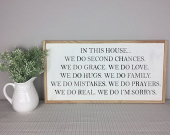 In This House | In This Home We Do Sign  | House Rules Sign | Family Rules Sign