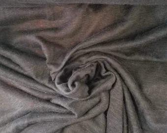 """Modal spandex fleece  gorgeous silky butterey touch by the  11.5-12oz""""heathered charcoal"""""""
