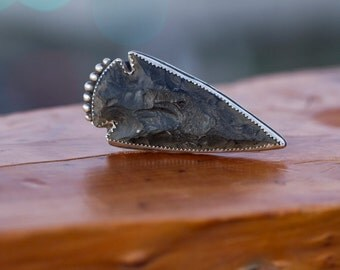 Arrowhead with Sterling Silver Ring