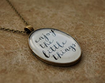 "Necklace ""QUOTE"" - multiple prints!"